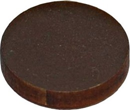 circle brown magnets pack of four