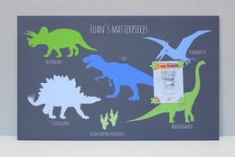 dinosaur noticeboard personalised £6 0ff usually £42