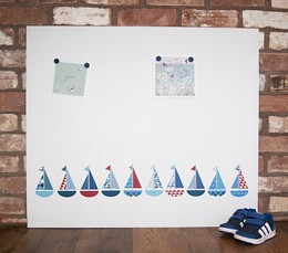 Giant boats design noticeboard