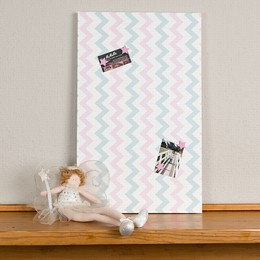 Pink and Blue Chevron Portrait