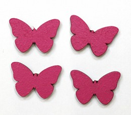 Wooden Butterfly pack of 4