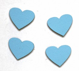 Pastel Blue Hearts