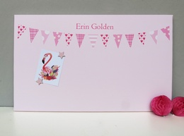 Personalised Pink bunting £6 off (usually £42)