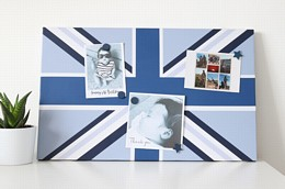 Blue union flag noticeboard