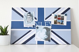 Personalised blue union flag
