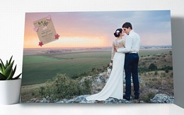 Your photo made into a rectangular noticeboard