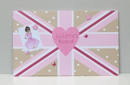 pink union flag personalised
