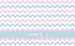 Pink and Blue Chevron Personalised