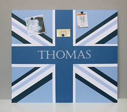 Giant Personalised Blue Union Flag