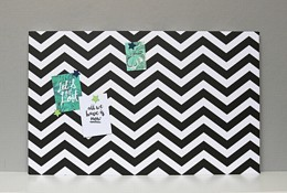 Large Black and White Chevron