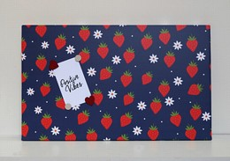 Navy Strawberry Magnetic Noticeboard